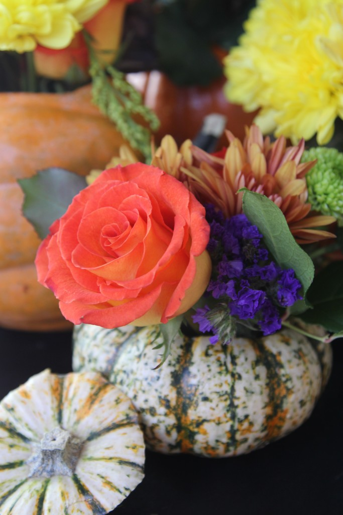 Pumpkin Flower Centerpieces