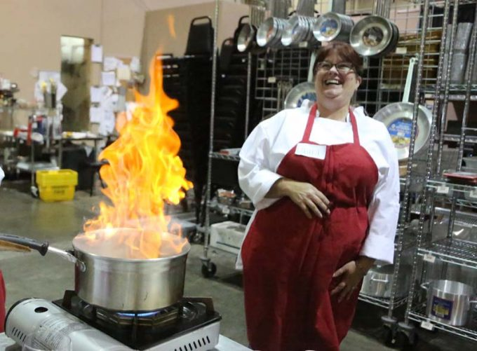 Surfas 6-Week Professional Cooking Classes (Level 2) + Team Cooking CompetitionLaura flambe