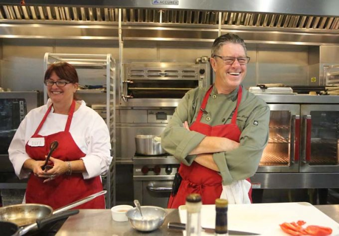 Surfas Professional Cooking Classes - Series One Chef laughing