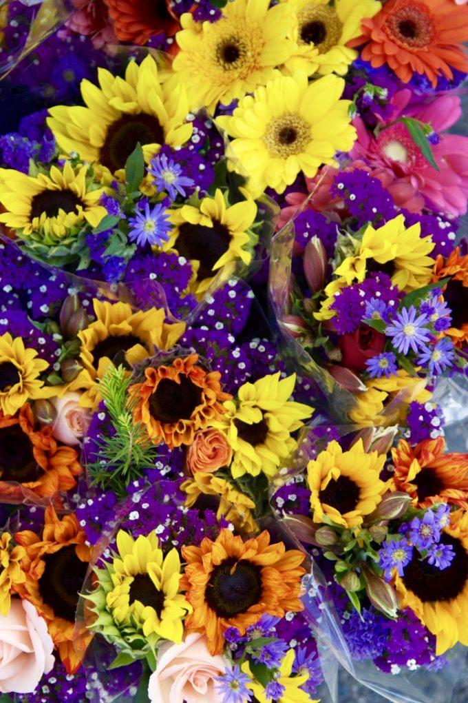 San Juan Capistrano Certified Farmers Market mixed flowers