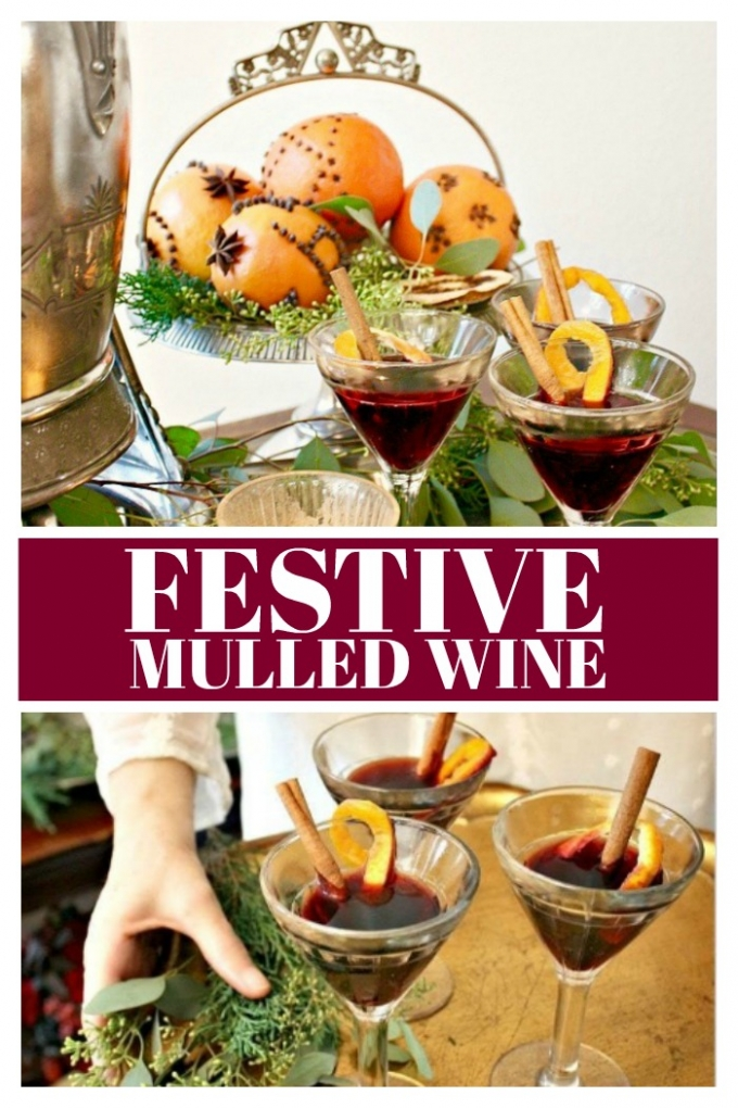 Make this Festive Christmas Mulled Wine recipe infused with warm winter spices, apple cider, lemon, orange, and apple slices in a crockpot or the stovetop!