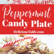 An recipe for how to make a Christmas peppermint candy plate for holiday parties.