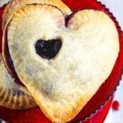 A heart shaped dessert hand pie