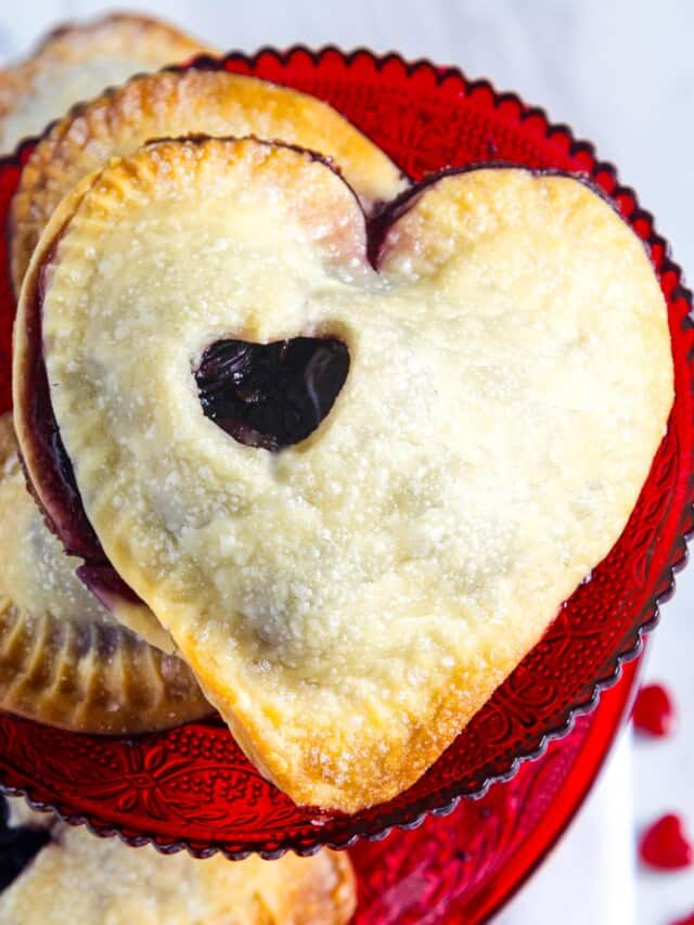 A heart shaped dessert hand pie