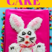 An ad for how to make a bunny cake for Easter dinner.