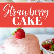 An ad for a Strawberry Cake recipe.